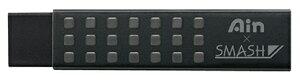 【ぺんてる】Ain×スマッシュ消しゴム スマッシュワークス ノック式シャープペン60周年限定カラー ブラック SMASH WORKS メール便対応可能