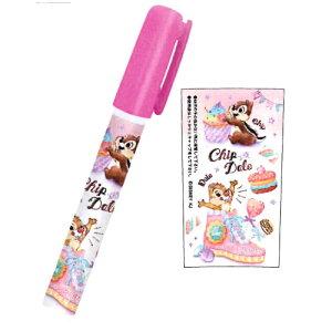 【 ディズニー 】 チップ&デール ペン型スティックのり 63630 カミオジャパン メール便可
