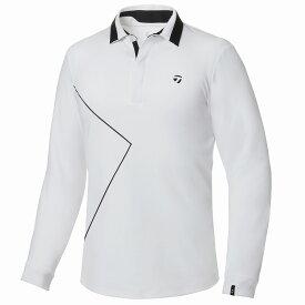 テーラーメイドゴルフ(TaylorMade Golf) 【メンズ】 ライングラフィックL/Sポロ/ホワイト /KY567 /U32586