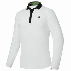 テーラーメイドゴルフ(TaylorMade Golf) 【メンズ】 ブラッシュドL/Sポロ/ホワイト /KY559 /U32560