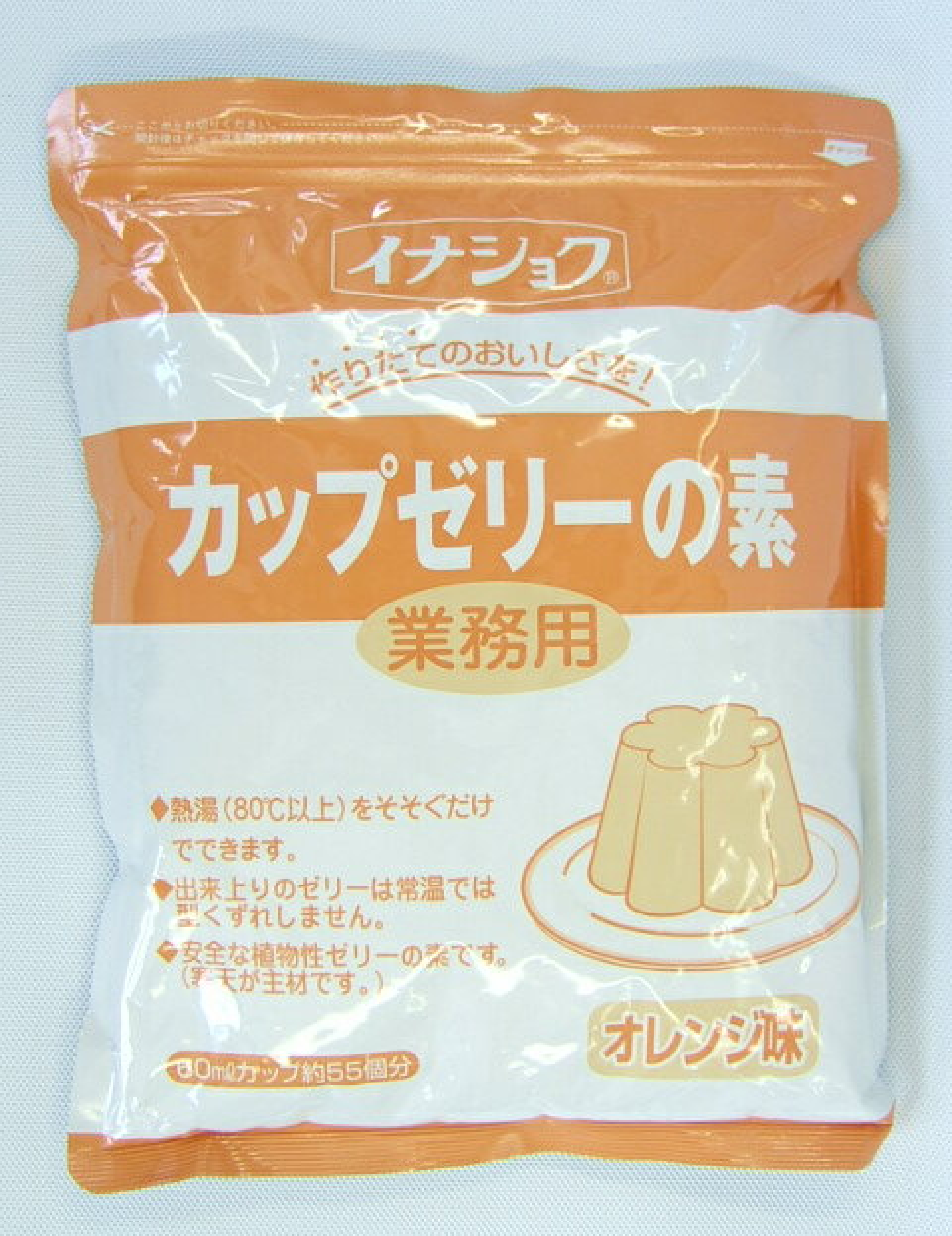 イナショク 【業務用】カップゼリーの素(オレンジ味)600g 55個分