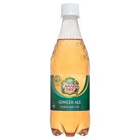 カナダドライ ジンジャーエール 500mlPET×24本 コカ・コーラ直送商品以外と 同梱不可 【D】【サイズE】