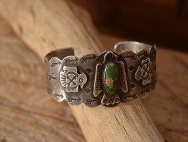 Vintage Indian Jewelry サンダーバード ターコイズ シルバー バングル (Fred Harvey era)