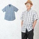 父の日プレゼント 服 遅れてごめんね 麻混楊柳 チェック柄半袖シャツ シニアファッション メンズ 60代 60代 70代 80代…