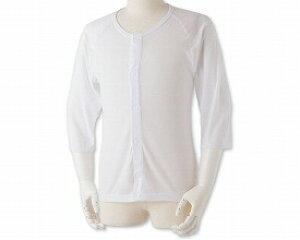着替えのしやすいあったか肌着シャツ ワンタッチ式 紳士用S-A-W1 白 M L LL (リハビリ お年寄り 介護用下着 高齢者 お年寄り 老人服 肌着)