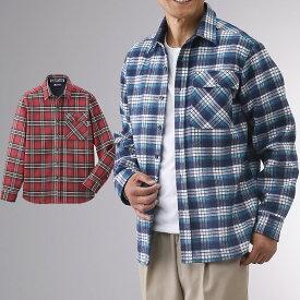 裏フリース あったか ボンディング シャツ 2色組 シニアファッション メンズ 80代 70代 60代 秋冬 男性 おじいちゃん 服 プレゼント 高齢者 祖父 誕生日 送料無料 暖かい 防寒 あったか