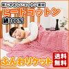 暖棉棉 100%棉材料热使用软肯特双 (日本制造) 浪漫小杉羽绒被毛毯皮肤座位冬暖玩具冬季