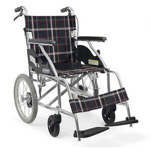 [カワムラサイクル]アルミ折り畳み介助式ノーパンク車椅子(kk0149) (介護用品/介護車いす/車イス)