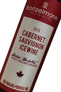 コンゼルマン カベルネ・ソーヴィニヨン アイスワイン(コンゼルマン・エステート・ワイナリー)[2015]赤・極甘口 200ml カナダ産アイスワイン