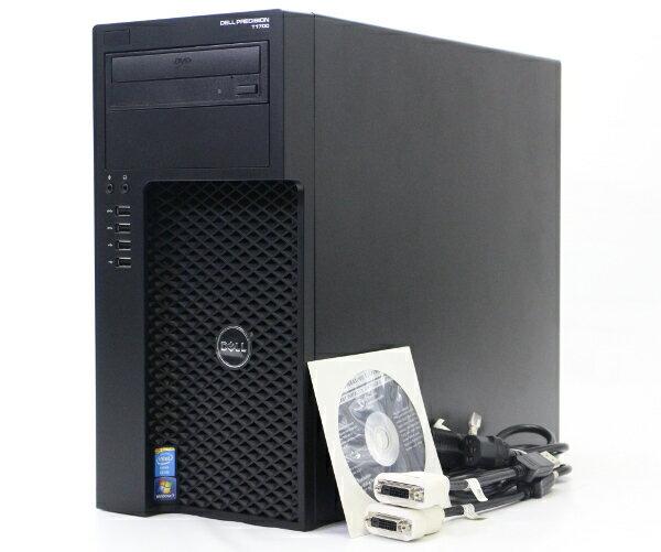 DELL Precision T1700 MT Xeon E3-1225v3 3.2GHz 32GB 500GB QuadroK2000 DVD-ROM Windows7Pro64bit 【中古】【20170901】