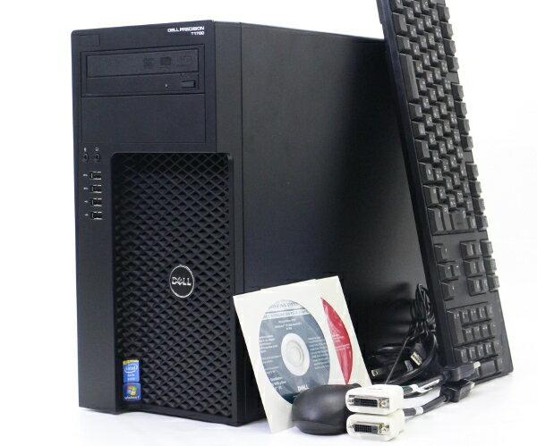 DELL Precision T1700 MT Xeon E3-1225v3 3.2GHz 8GB 500GBx1台 1TBx1台 HDD計2台構成 QuadroK2000 DVD+-RW Windows7Pro64bit 【中古】【20170901】