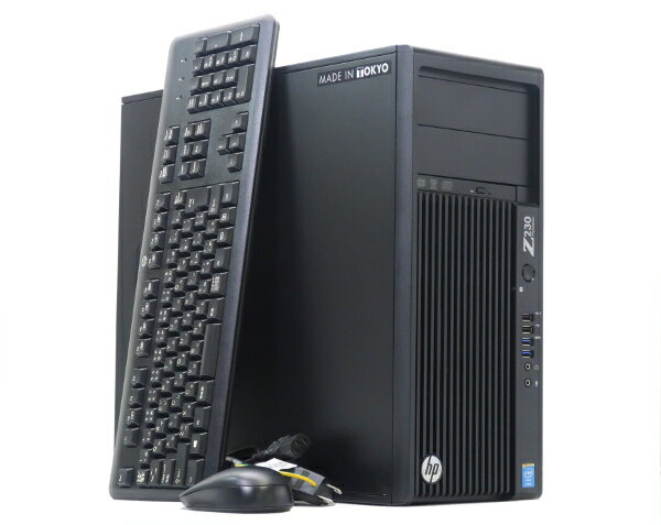 hp Z230 TW Xeon E3-1271v3 3.6GHz 8GB 500GB QuadroK2200 DVD+-RW Windows7Pro64bit(8Proダウングレード) 【中古】【20170921】