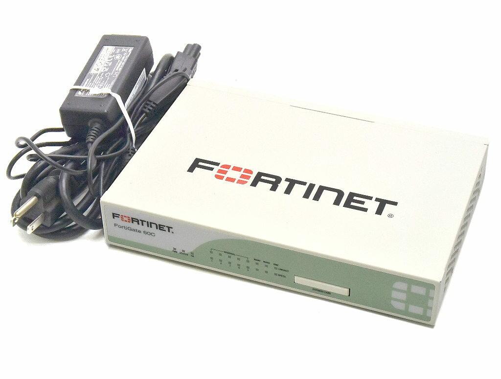 Fortinet FortiGate-60C 設定初期化済 各種ライセンス期限切れ RAM1GB ファームウェアv4.0 build0689 140731(MR3 Patch 18) 【中古】【20171116】