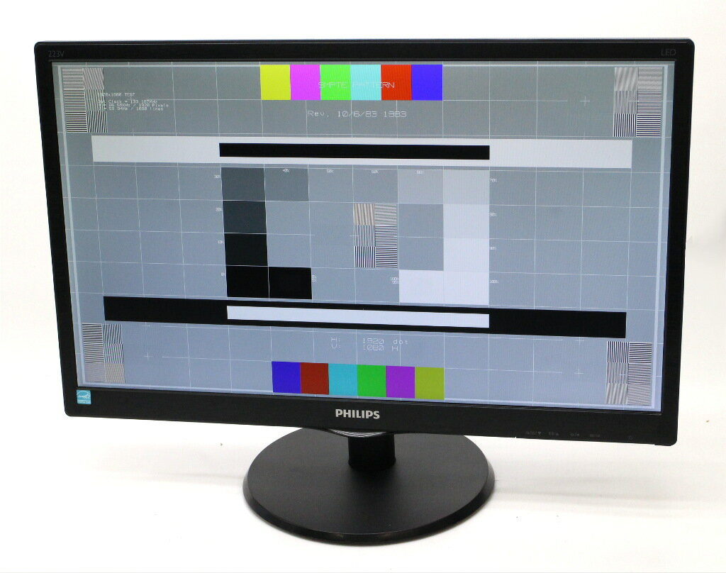 PHILIPS 223V5LHSB 21.5インチ非光沢パネル フルHD 1920x1080ドット アナログRGB/HDMI入力 【中古】【20180119】