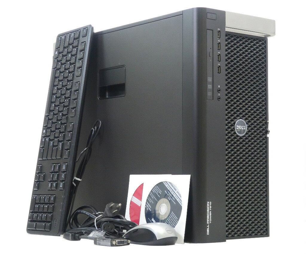 DELL Precision Tower 7910 Xeon E5-2637v3 3.5GHz 32GB 2TBx4台(SATA3.5インチ/RAID5) QuadroK4200 DVD+-RW Windows7Pro64bit 【中古】【20180115】