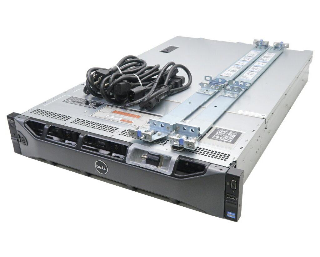 DELL PowerEdge R720XD Xeon E5-2603v2 1.8GHz 8GB 300GBx2台(SAS2.5インチ/RAID1)+2TBx8台(SAS3.5インチ/RAID6) AC*2 RAID 【中古】【20180115】