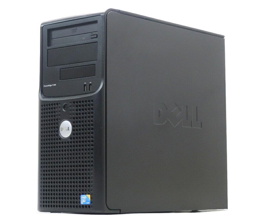 DELL PowerEdge T100 Core2Duo E7400 2.8GHz 4GB 160GBx2台(SATA3.5インチ/RAID1構成) DVD-ROM SAS 6/iR 【中古】【20180119】