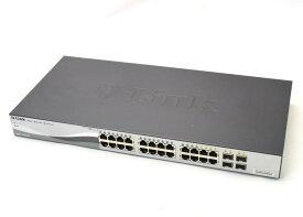 D-Link DGS-1210-24/GE 24ポート1000BASE-T搭載 4ポートSFP共用スロットあり WEBマネージメント対応 設定初期化済 【中古】【20180123】