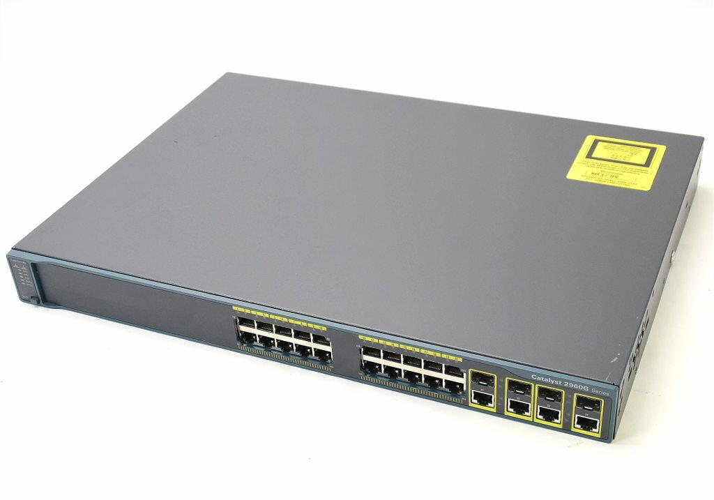 Cisco Catalyst 2960G WS-C2960G-24TC-L V04 C2960-LANBASE-M Ver.12.2(50)SE4 設定初期化済 【中古】【20171117】