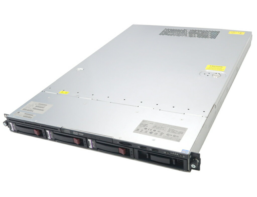 hp ProLiant DL120 G7 Xeon E3-1240 3.3GHz 4GB 300GBx3台(SAS3.5インチ/6Gbps/RAID5構成) DVD-ROM SmartArray-P212 【中古】【20180612】
