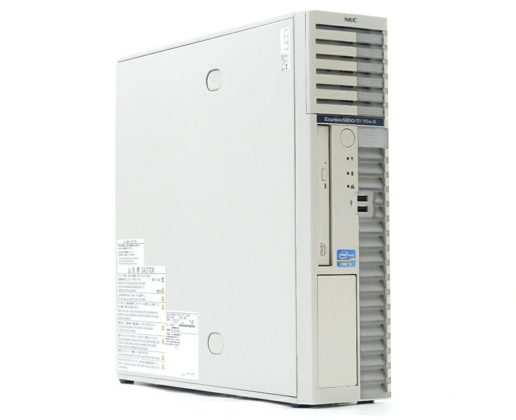 NEC Express5800/GT110e-S(水冷) Core i3-3240 3.4GHz 8GB 500GBx2台(SATA3.5インチ/RAID1) DVD-ROM SuperTrak EX SAS 6G RAID 【中古】【20180612】