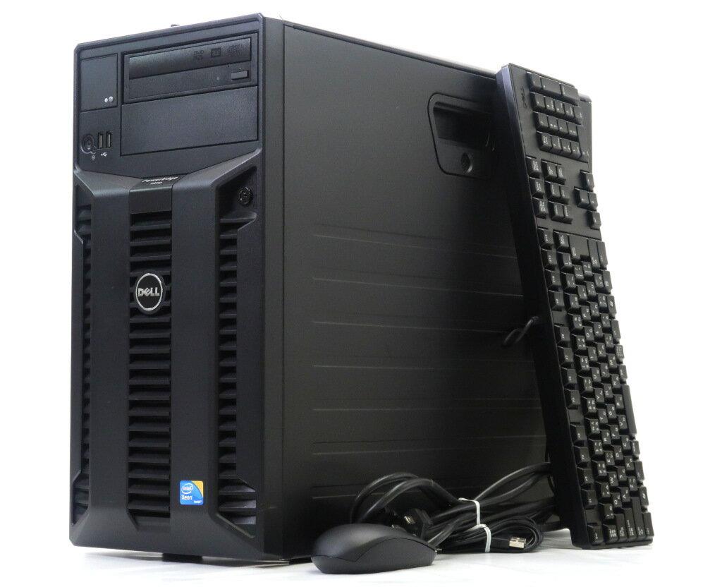 DELL PowerEdge T310 Xeon X3450 2.66GHz 16GB 1TBx2台(SATA3.5インチ/RAID1構成) DVD+-RW PERC 6/i 【中古】【20180612】