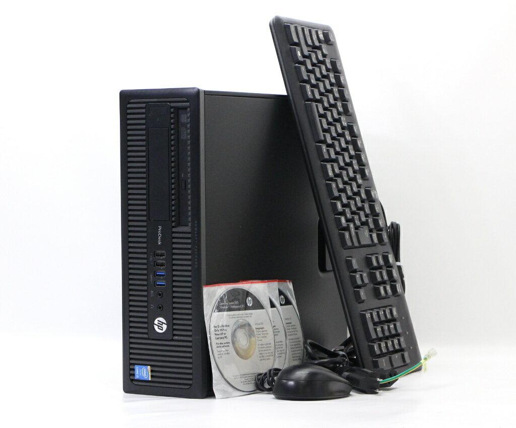 hp ProDesk 600 G1 SFF Core i3-4160 3.6GHz 4GB 500GB アナログRGB/DisplayPort出力 DVD-ROM Windows7 Pro 64bit 【中古】【20180716】