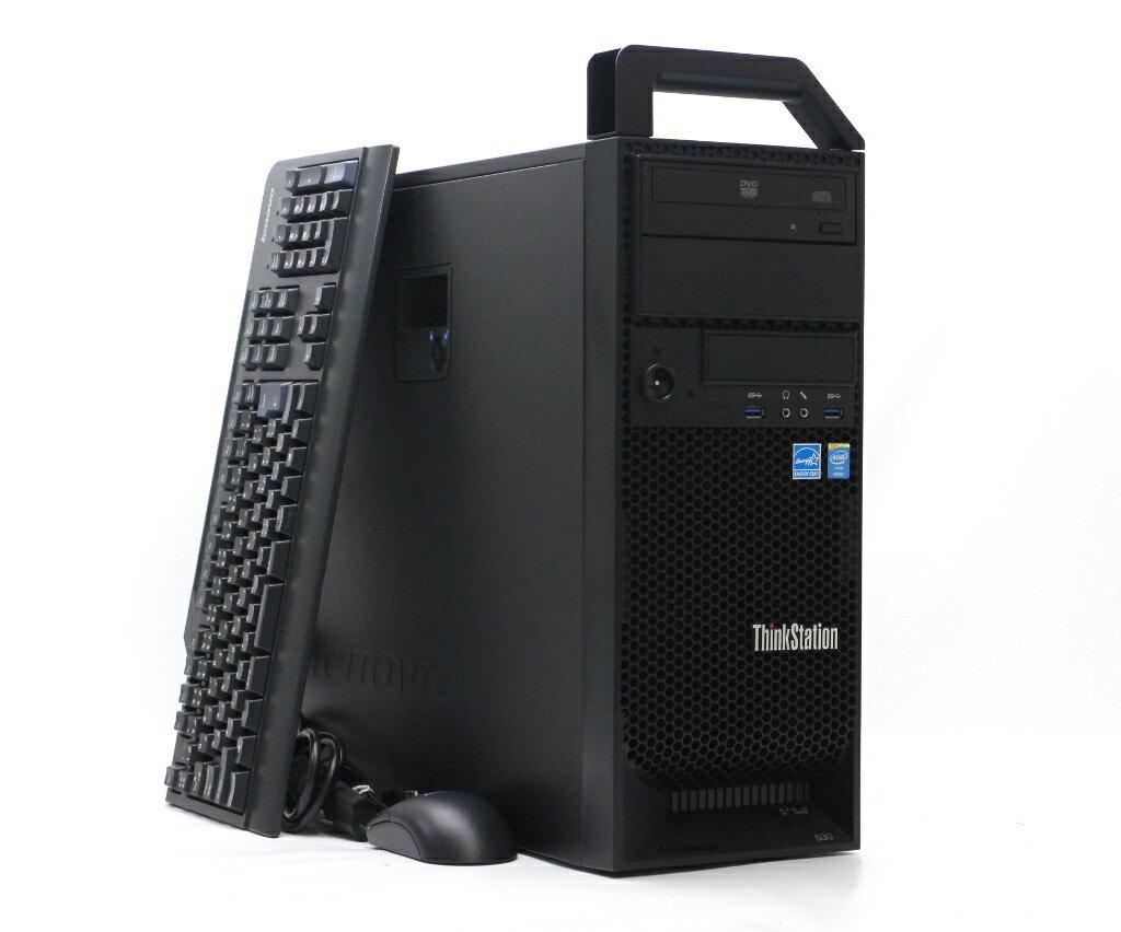 Lenovo ThinkStation S30 4351-9U9 Xeon E5-1650v2 3.5GHz 64GB 500GB Quadro K2000 DVD-ROM Windows7 Pro 64bit 【中古】【20180716】