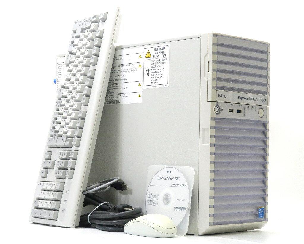 NEC Express5800/T110g-E Xeon E3-1220v3 3.1GHz 4GB 1TBx1台(SATA3.5インチ) DVD-ROM SATA RAID N8100-2186Y 【中古】【20180716】
