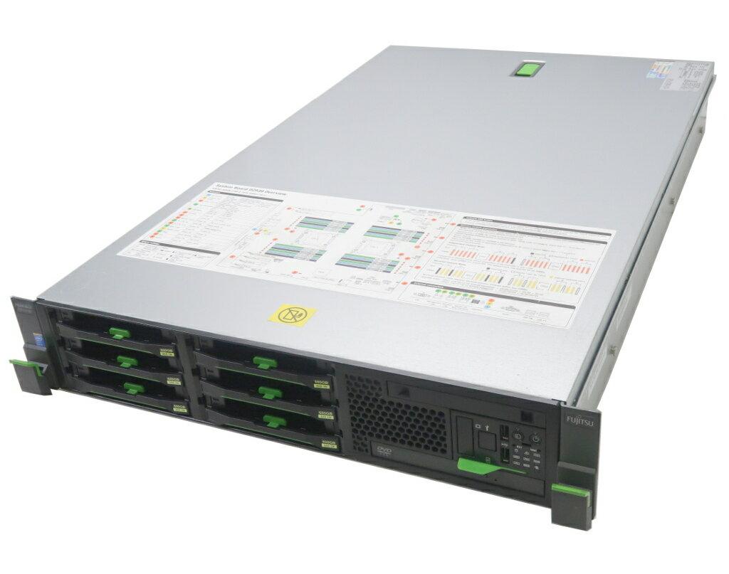 富士通 PRIMERGY RX300 S8 Xeon E5-2637v2 3.5GHz 16GB 300GBx6台(SAS3.5/6Gbps/RAID6) DVD RAID Ctrl SAS 6G 5/6 1GB(D3116C) 【中古】【20180716】