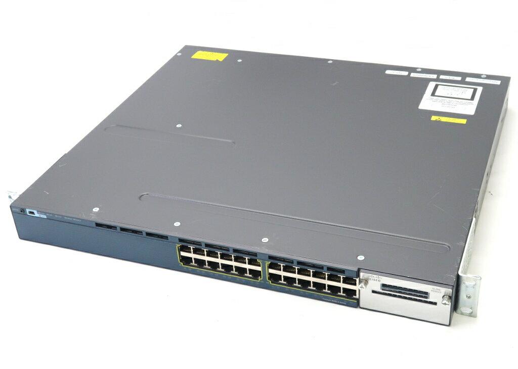Cisco WS-C3560X-24T-S V03 冗長電源 C3560E-UNIVERSALK9-M Ver.15.0(1)SE3 C3KX-PWR-350WAC x2基搭載 設定初期化済 【中古】【20180716】