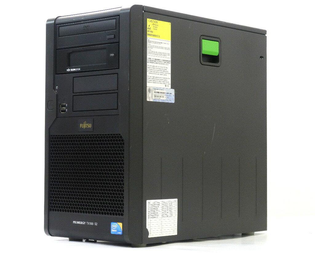 富士通 PRIMERGY TX100 S2 PGT1024H6 Xeon X3430 2.4GHz 4GB 160GBx2台(SATA3.5インチ/RAID1構成) DVD-ROM SATA RAID 【中古】【20180716】