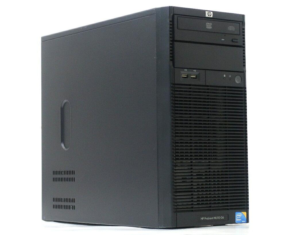 hp ProLiant ML110 G6 BM101A Xeon X3430 2.4GHz 2GB 146GBx2台(SAS3.5インチ/3Gbps/RAID1構成) DVD-ROM SmartArray-P212 【中古】【20180716】