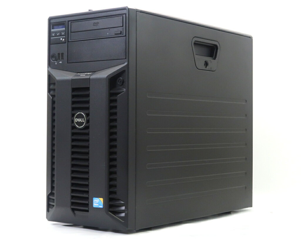 DELL PowerEdge T310 冗長電源 Xeon X3430 2.4GHz 12GB 250GBx2台(SATA3.5インチ/RAID1構成) DVD-ROM AC*2 PERC H200A 【中古】【20180716】