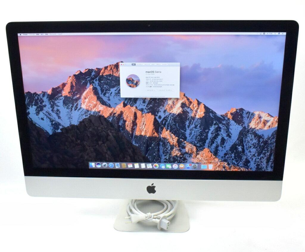 Apple iMac 27インチ Core i7-3770 3.4GHz 32GB 1TB GeForceGTX675MX WQHD 2560x1440ドット macOS Sierra10.12.1 Late 2012 【中古】【20180716】