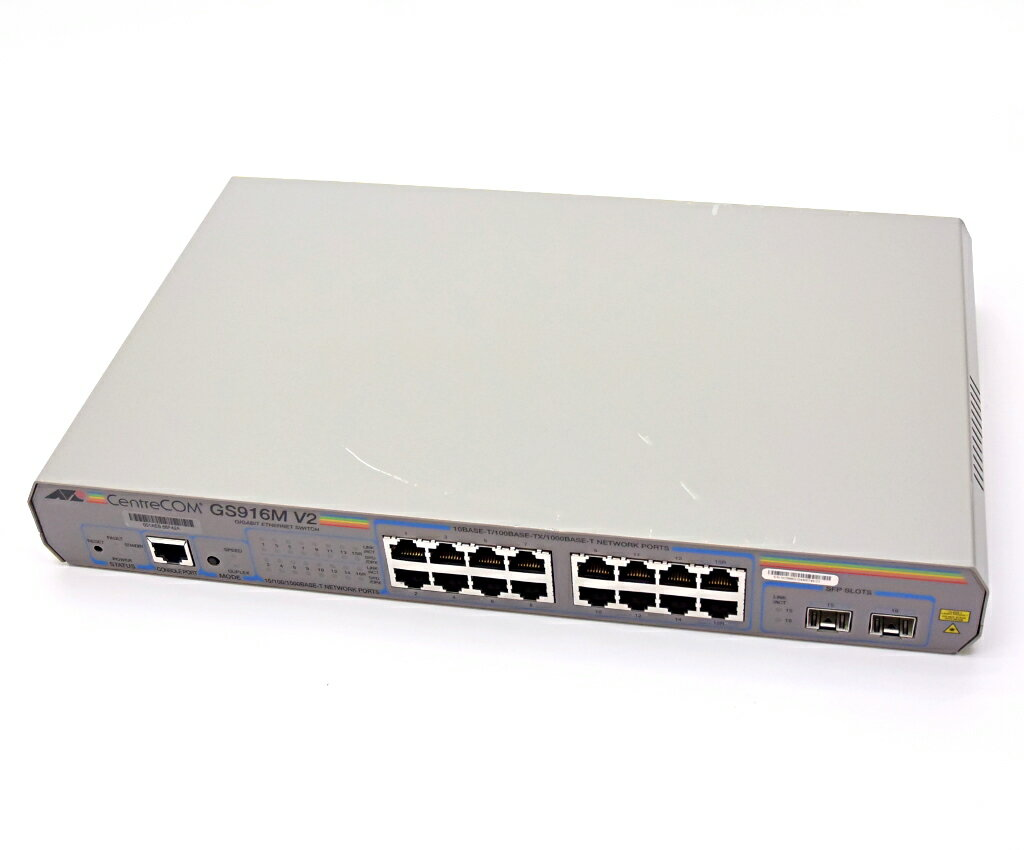 Allied Telesis CentreCOM GS916M V2 16ポート 1000BASE-T マネージドスイッチ 設定初期化済 【中古】【20180719】