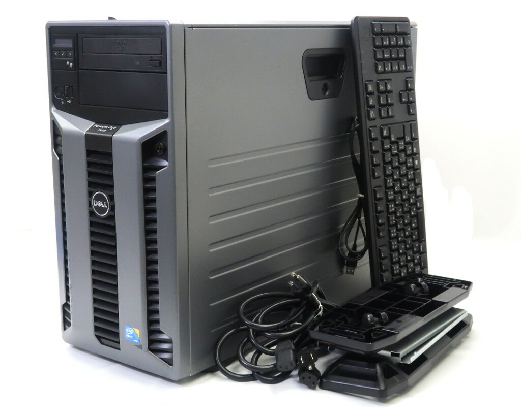 DELL PowerEdge T610 II Xeon X5650 2.66GHz*2 32GB 900GBx3台(SAS2.5インチ/6Gbps/RAID5構成) DVD-ROM AC*2 PERC H700 【中古】【20180808】