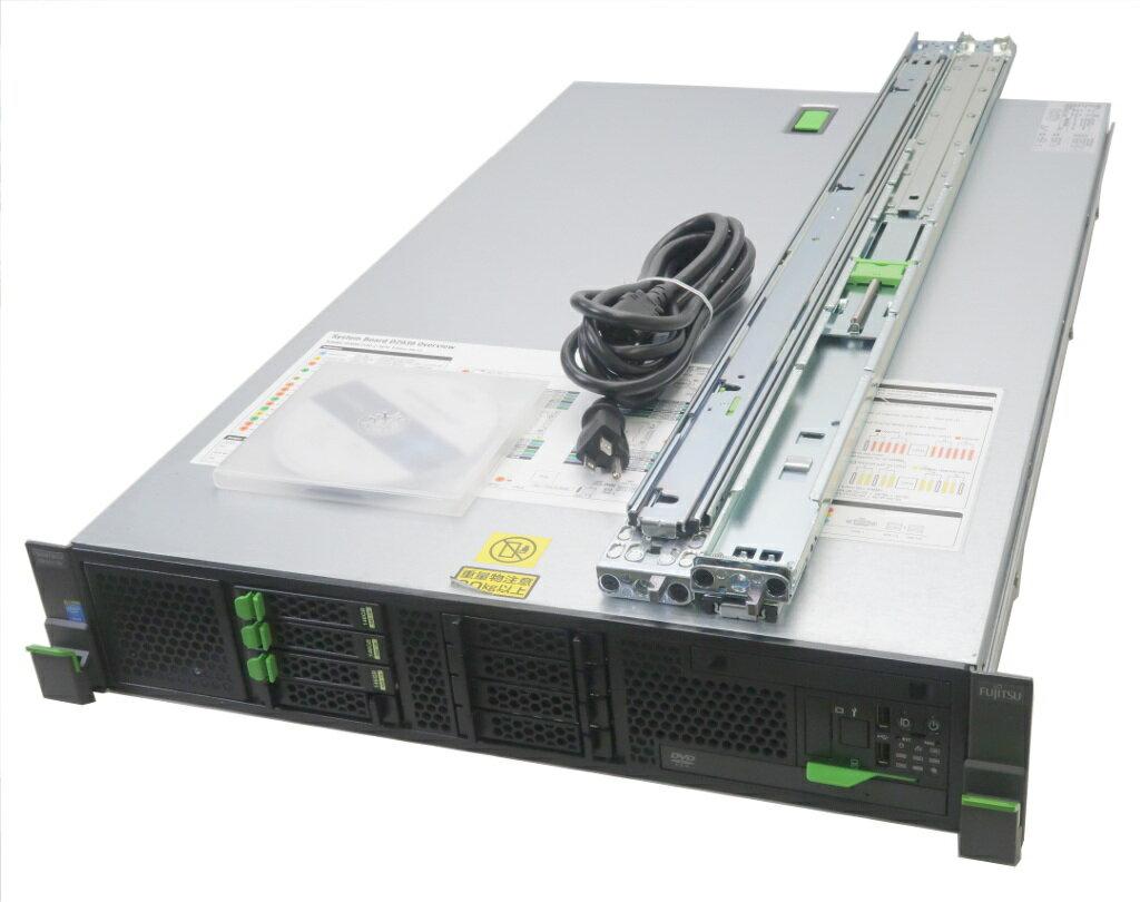 富士通 PRIMERGY RX300 S8 Xeon E5-2609v2 2.5GHz*2 8GB 146GBx3台(SAS2.5インチ/6Gbps/RAID5構成) DVD-ROM D2616 【中古】【20180808】