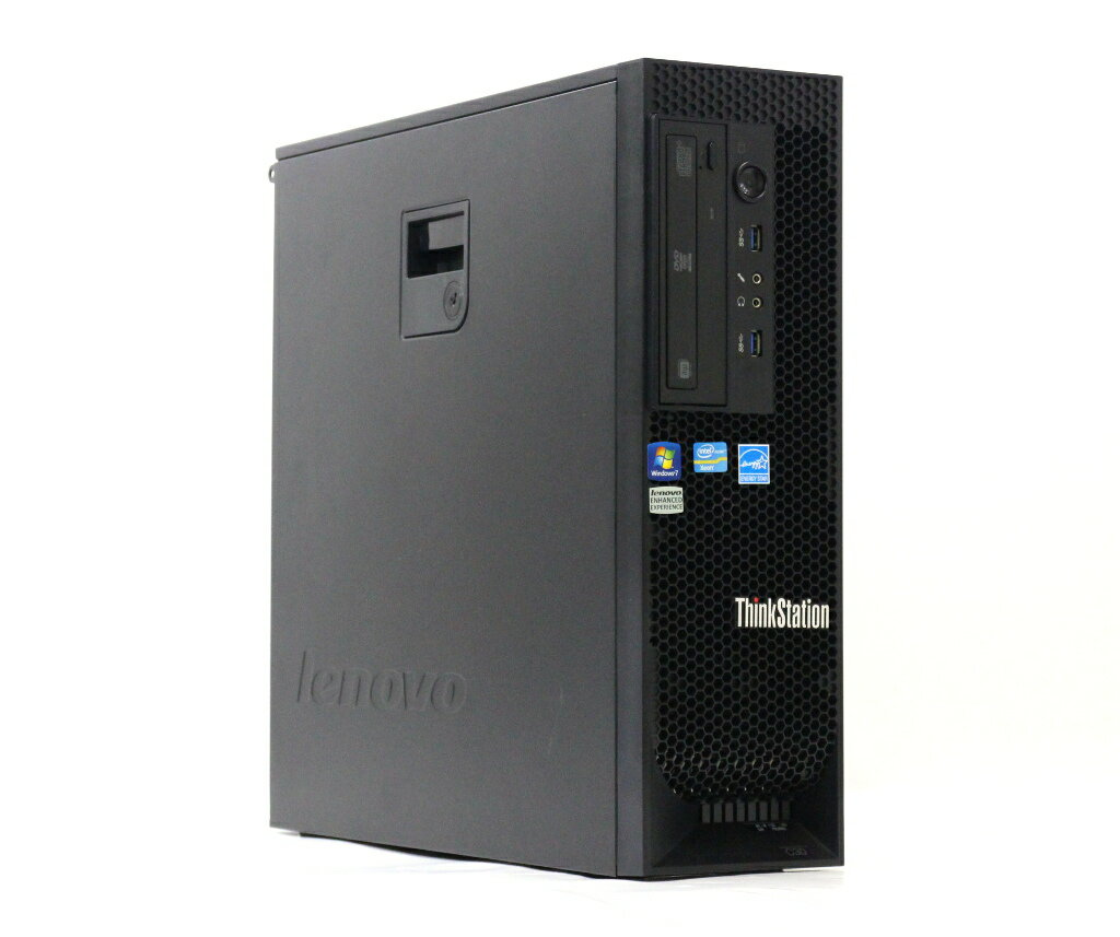 Lenovo ThinkStation C30 1136-4V8 Xeon E5-2630 2.3GHz 8GB 500GB Quadro600 DVD+-RW Windows7 Pro 64bit 【中古】【20180808】