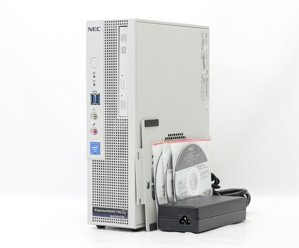 NEC Express5800/Y52Xa Celeron G1820 2.7GHz 8GB 500GBx2台(SATA2.5) DisplayPort/アナログRGB DVD+-RW Windows10 Pro 64bit 【中古】【20180808】