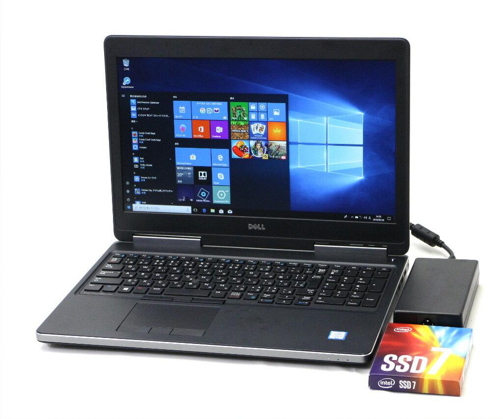 DELL Precision 7510 Core i7-6820HQ 2.7GHz 32GB 256GB(NVMe SSD) Quadro M1000M 15.6インチ 1920x1080 Windows10 Pro 64bit 【中古】【20181003】