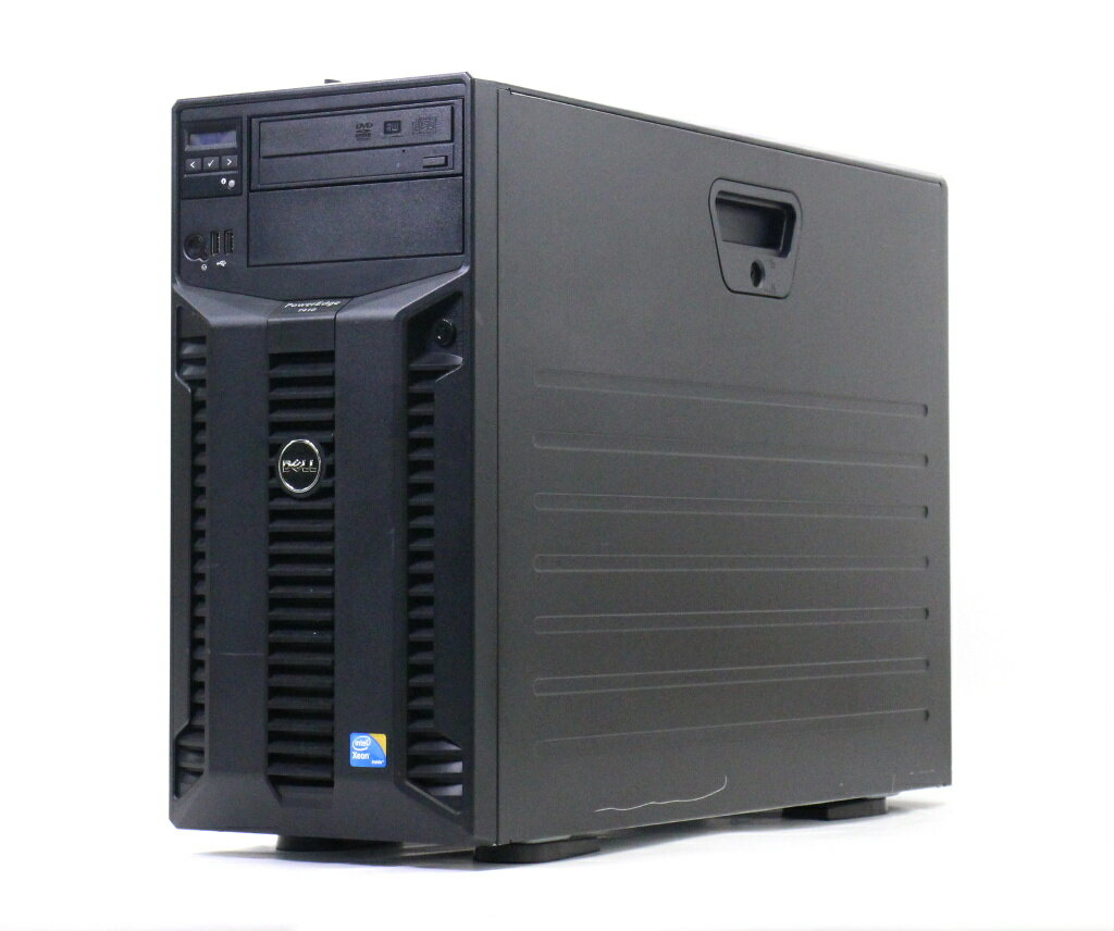 DELL PowerEdge T410 II 冗長電源 Xeon E5620 2.4GHz 12GB 1TBx2台(SATA3.5インチ/RAID1構成) DVD+-RW AC*2 PERC 6/i 【中古】【20181016】