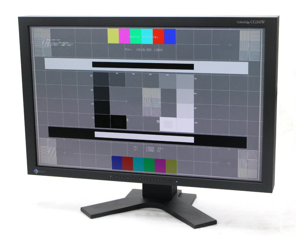 EIZO ColorEdge CG241W 24.1インチ 非光沢パネル WUXGA 1920x1200ドット DVI-I x2系統入力 11933h 【中古】【20181121】