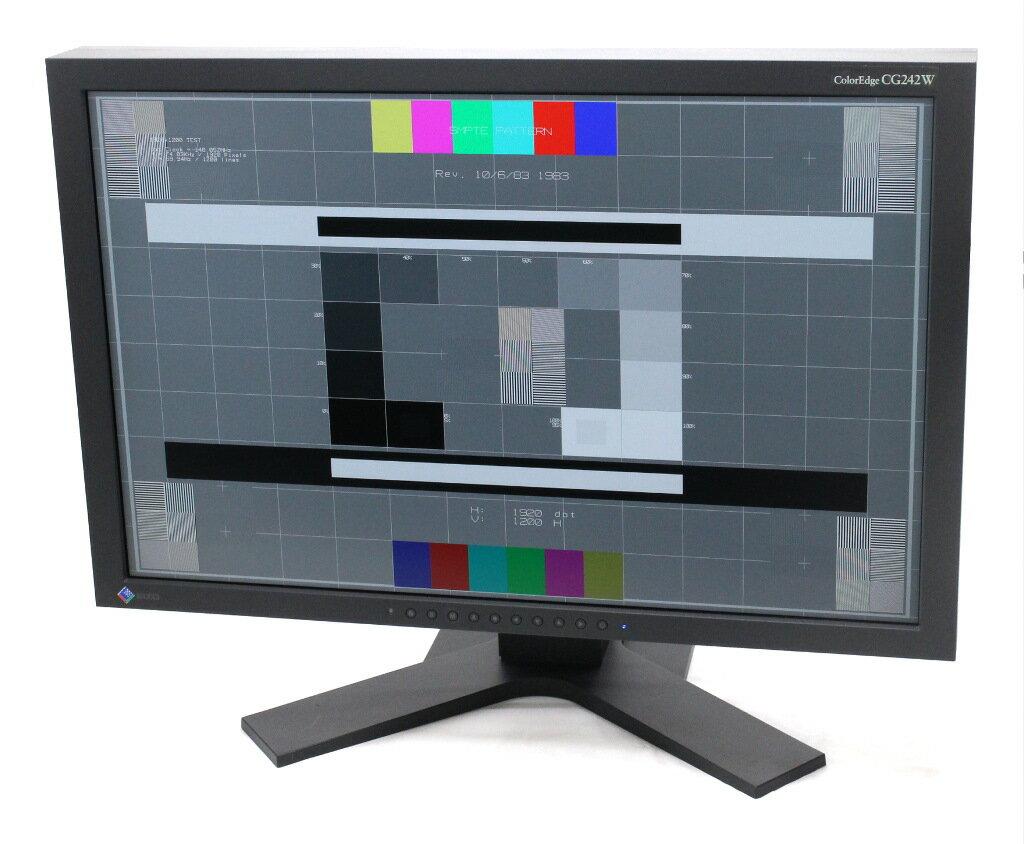 EIZO ColorEdge CG242W 24.1インチ非光沢パネル、WUXGA 1920x1200ドット DVI-I/DisplayPort入力 13150h 【中古】【20181121】