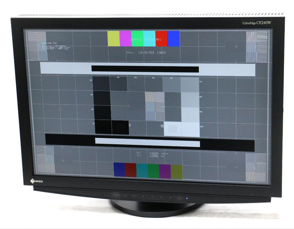 EIZO ColorEdge CE240W 24.1インチ 非光沢パネル WUXGA 1920x1200ドット DVI-Ix2系統入力 23808h 【中古】【20181121】
