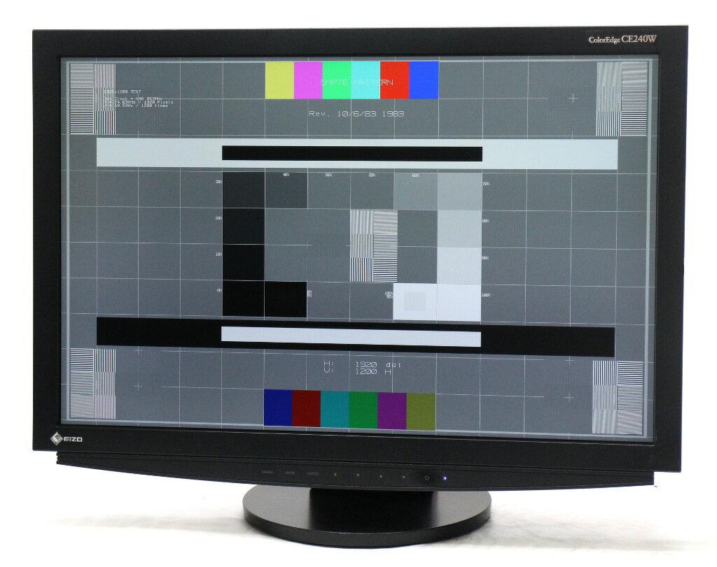 EIZO ColorEdge CE240W 24.1インチ 非光沢パネル WUXGA 1920x1200ドット DVI-Ix2系統入力 24150h 【中古】【20181121】