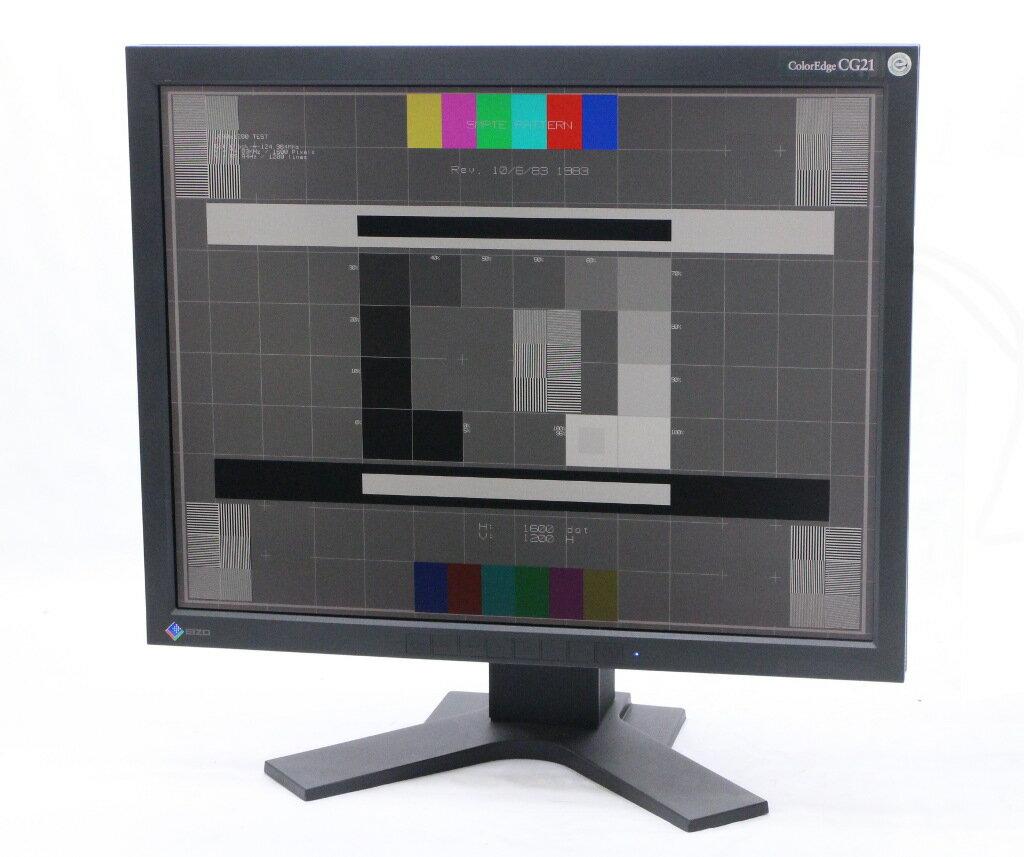 EIZO ColorEdge CG21 21.3インチ 非光沢 スクエアパネル UXGA 1600x1200ドット アナログRGB/DVI-I入力 28708h 【中古】【20181121】