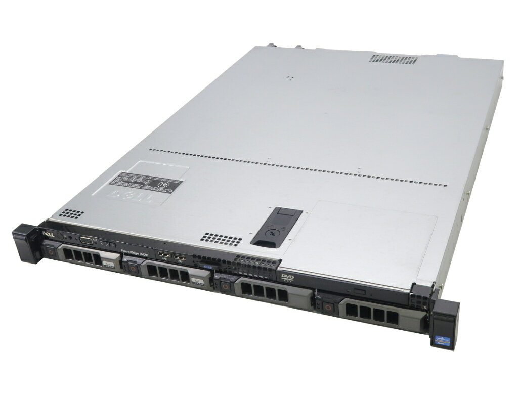 DELL PowerEdge R420 冗長電源 Xeon E5-2470 2.3GHz*2 16GB 2TBx2台(SAS3.5/6Gbps/RAID1) DVD-ROM AC*2 PERC H310 Mini 【中古】【20181207】