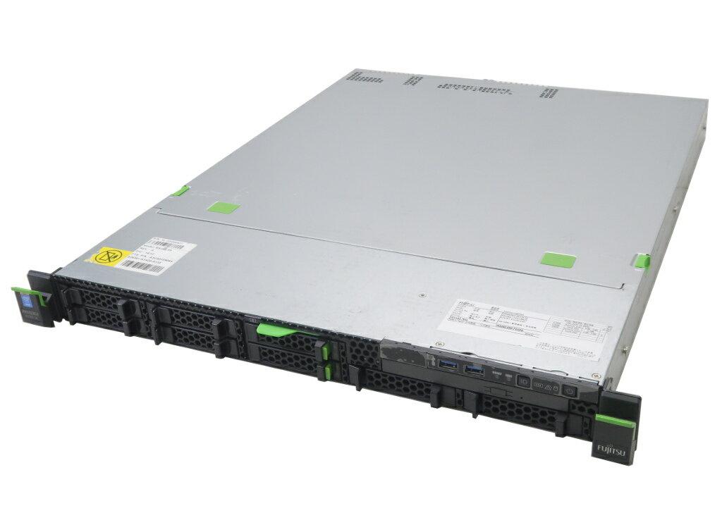 富士通 PRIMERGY RX100 S8 Xeon E3-1220 v3 3.1GHz 8GB 146GBx2台(SAS2.5インチ/6Gbps/RAID1構成) DVD-ROM D2616 【中古】【20181207】