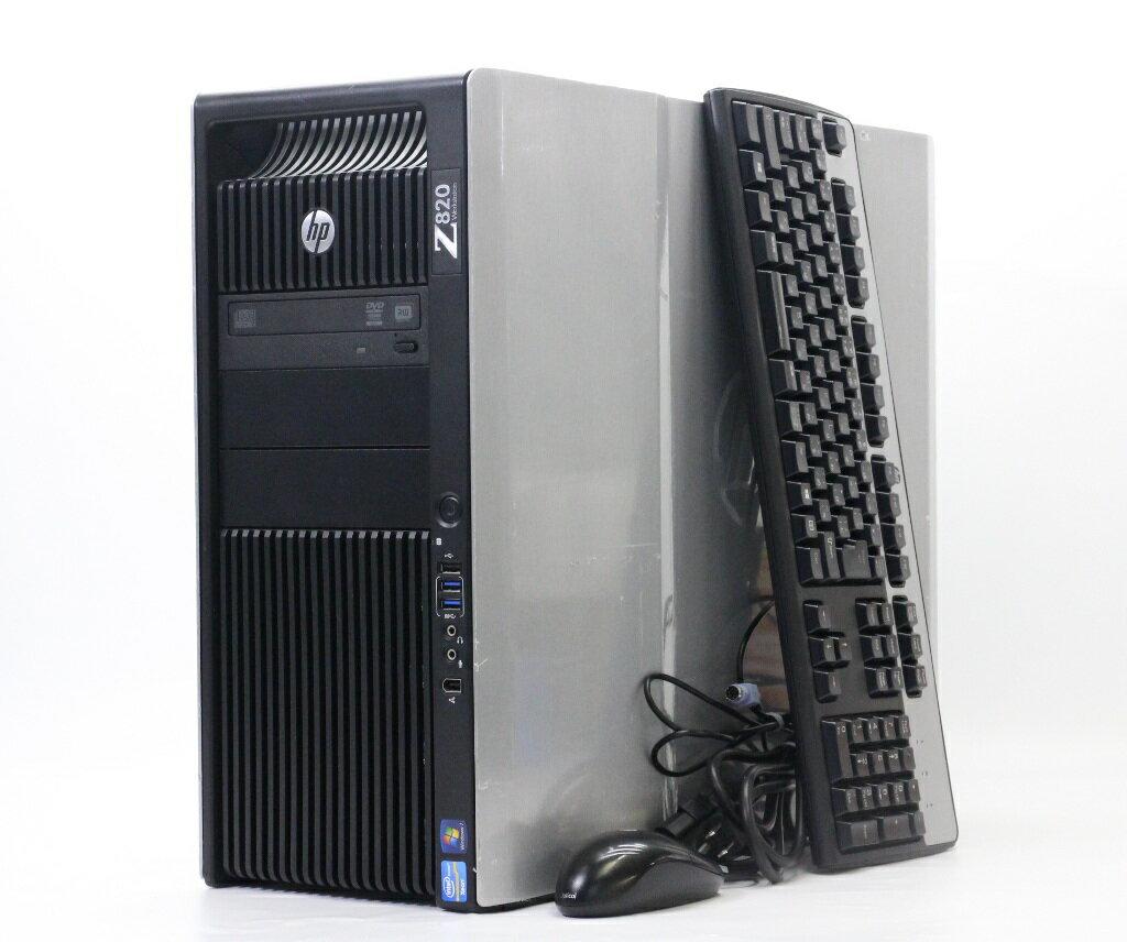 hp Z820 Workstation (水冷) 24コア Xeon E5-2697 v2 2.7GHz*2 256GB 1TB(SSD) Quadro K4000 DVD+-RW Windows7 Pro 64bit 【中古】【20190215】